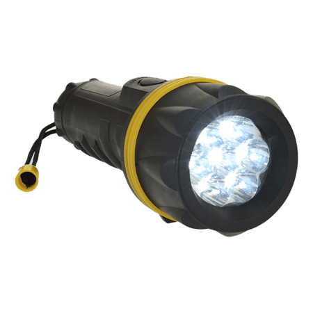 Latarka gumowa z 7 diodami LED