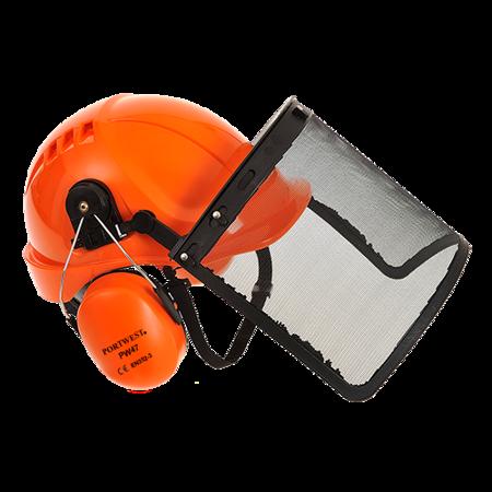 Zestaw do ochrony głowy dla pilarzy